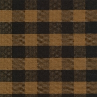 1001 tavern check black mustard fabric